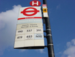 transport bus stop sign
